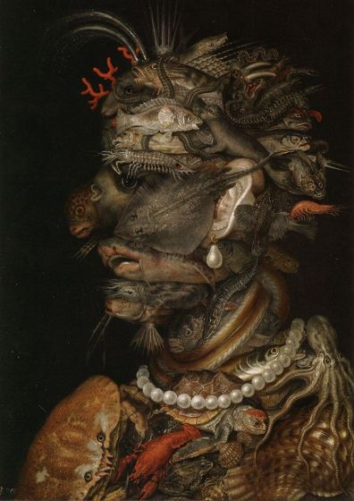 Arcimboldo, Giuseppe: The Water. Fine Art Print/Poster. Sizes: A4/A3/A2/A1 (002636)
